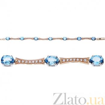 Золотой браслет с топазами swiss Маркиза AUR--35014 01