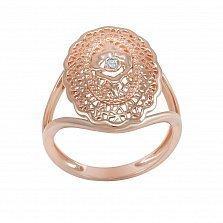 Кольцо Богдана из красного золота с бриллиантом