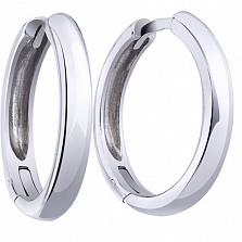 Серебряные серьги-кольца Трис