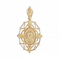 Серебряная ладанка Иисус с позолотой 000025231