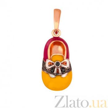 Золотая подвеска Башмачок для Золушки VLT--Э374