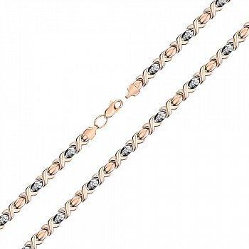 Золотой браслет в комбинированном цвете, 6мм 000141493
