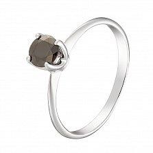 Кольцо в белом золоте Елизавета с бриллиантом
