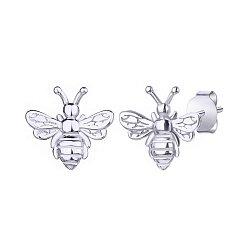 Серебряные серьги-пуссеты Забавные пчелки 000113702
