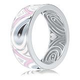 Обручальное кольцо из белого золота Талисман: Гармонии