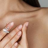 Кольцо на фалангу «Маленький Лебедь» разм.13-14.5