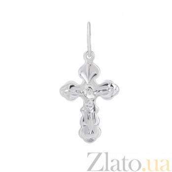 Крестик из серебра Распятие HUF--311138-Р