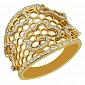 Кольцо из желтого золота с фианитами Мерцана VLT--TT1041-1