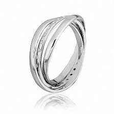 Серебряное кольцо с фианитами Лейла