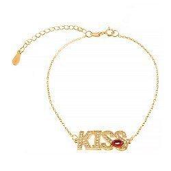 Серебряный браслет с фианитами Kiss 000027982