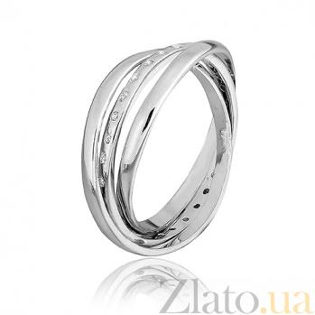 Серебряное кольцо с фианитами Лейла 000025751