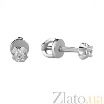 Серьги-пуссеты из серебра Леди HUF--2082-Р