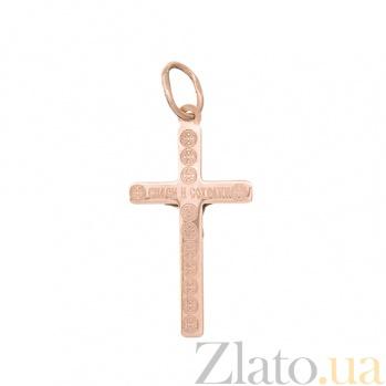 Крестик из красного золота Спаси и сохрани HUF--115-РРМА НВ