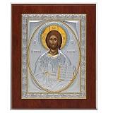 Икона Спасителя, квадратная рамка, с инкрустацией