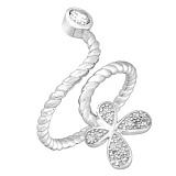 Серебряное кольцо с фианитами Хрупкая бабочка