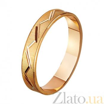 Золотое обручальное кольцо Влюбленная душа TRF--411075