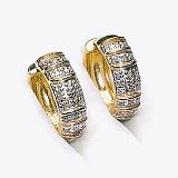 Золотые серьги с бриллиантами Вега