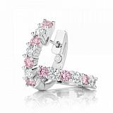 Серьги Argile с розовыми сапфирами и бриллиантами