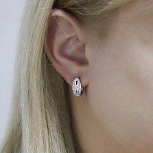Серебряные серьги Долорес с белыми фианитами