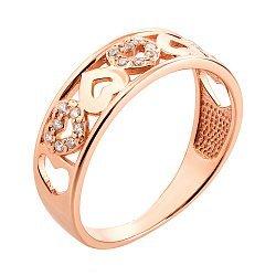 Обручальное кольцо Филомена из красного золота