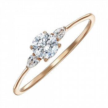 Кільце з червоного золота з кристалами Swarovski 000150327