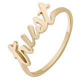 Золотое кольцо из красного золота Trust