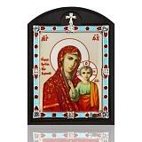 Автомобильная икона на дереве Казанская Божья Матерь