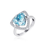 Серебряное кольцо с фианитами Лагуна