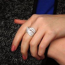 Серебряное кольцо Теата с фианитами разной огранки
