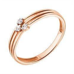 Кольцо из красного золота с лейкосапфирами 000040392
