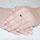 Кольцо из белого золота с бриллиантом Дана