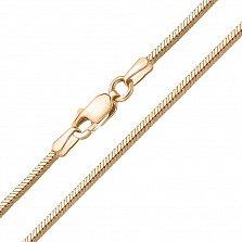 Золотой браслет Тондес в плетении плоский снейк, 3мм