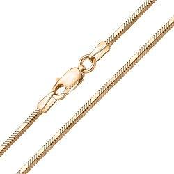 Золотой браслет в плетении плоский снейк, 3мм 000097501