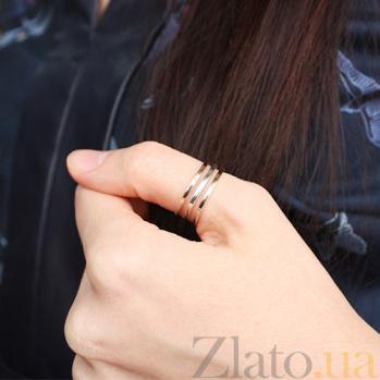 Серебряное кольцо с золотой вставкой Эмма BGS--844/1
