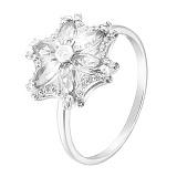 Кольцо в белом золоте Агния с фианитами