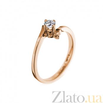 Кольцо в красном золоте Знак с бриллиантом 000079259