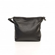 Кожаная сумка на каждый день Genuine Leather 8987 черного цвета с регулируемой ручкой