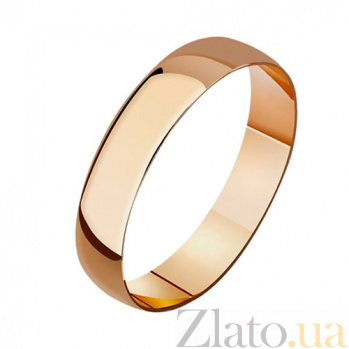 Золотое обручальное гладкое кольцо Традиции 000001623