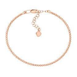 Браслет из красного золота с подвижными шариками и алмазной гранью 000131598