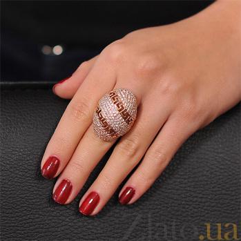 Золотое кольцо Мода с фианитами EDM--КД0385