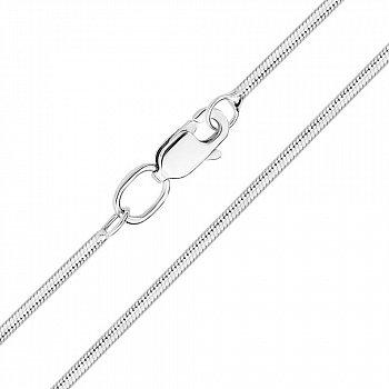 Серебряный браслет в плетении снейк 000122992