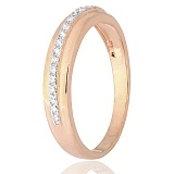 Серебряное кольцо Сайприс с фианитами и позолотой