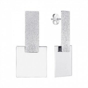 Серебряные серьги-подвески 000146386