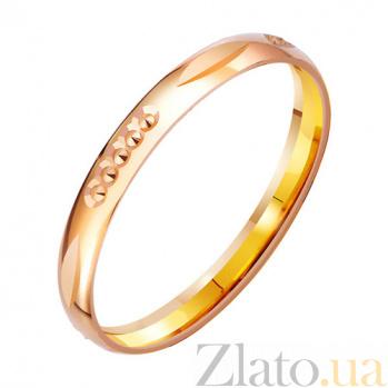Золотое обручальное кольцо с алмазной гранью Нежная склонность TRF--4111293