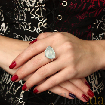 Серебряное кольцо с халцедоном SG--1618243000052