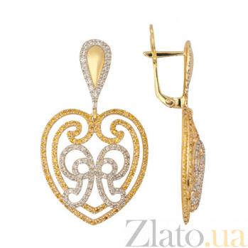 Сережки из желтого золота Валентина VLT--ТТТ2357