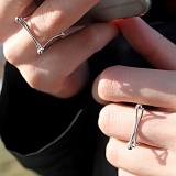Серебряное кольцо Couple