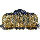 Автомобильная серебряная икона Триптих