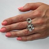 Серебряное кольцо Мерцание глянец