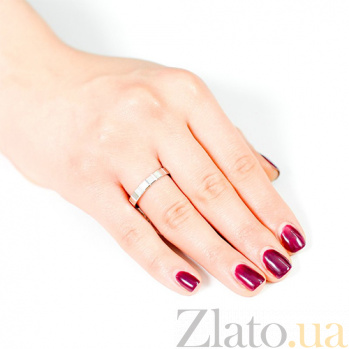Обручальное кольцо из белого золота Квадрат 000001624